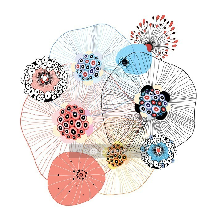 Vinilo para Pared Elementos abstractos - Abstracto