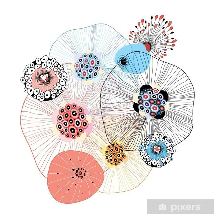 Pixerstick Sticker Abstracte elementen - Abstract