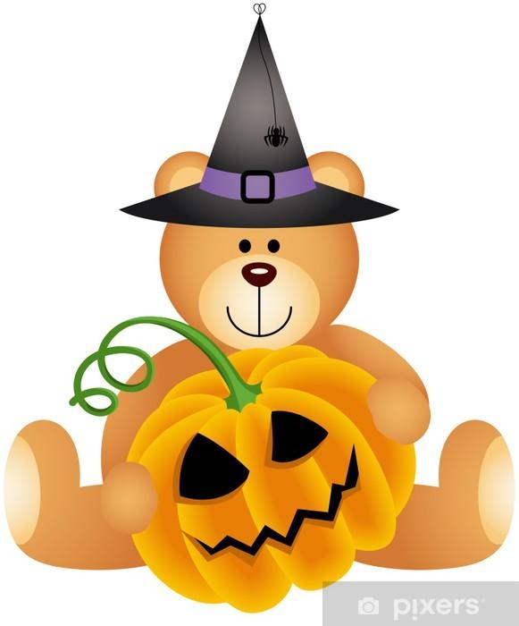 Adesivo Halloween Teddy Bear con zucca • Pixers® - Viviamo per il ... bfe8ef95538a