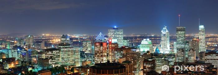 Sticker Pixerstick Montréal au panorama du crépuscule - Autres