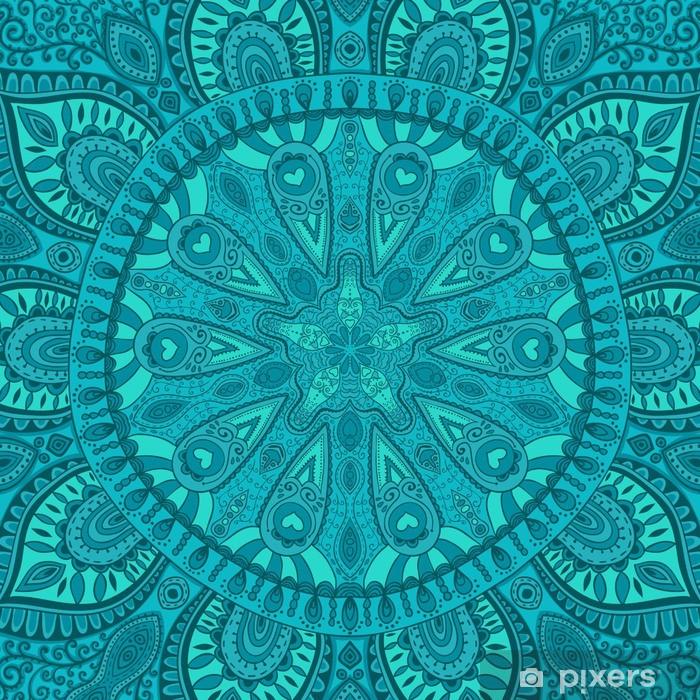 Naklejka Pixerstick Ozdobny wzór koronki, koło tło z wielu szczegółów, lo - Tematy