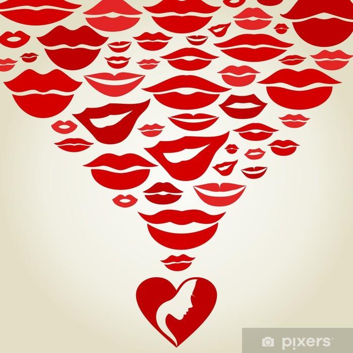 Poster Lips7 - Körperteile
