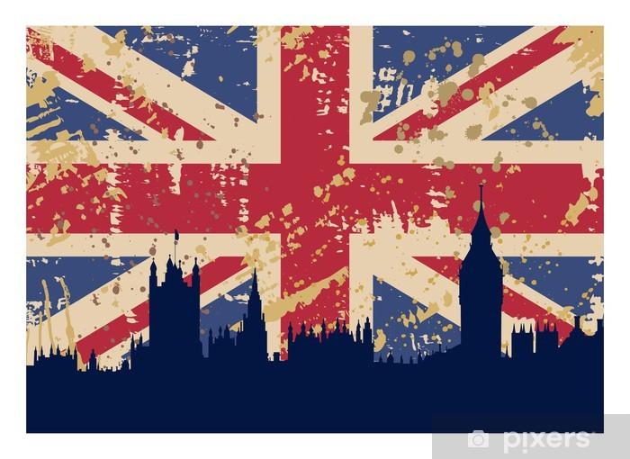 Great Britain's Flag and London Pixerstick Sticker -