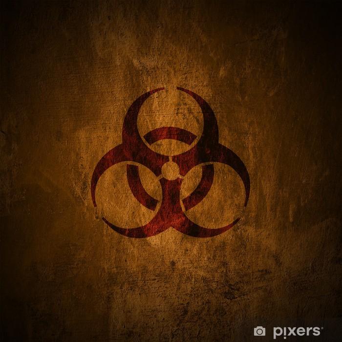 Papier peint vinyle Symbole grunge de risque biologique. - Thèmes
