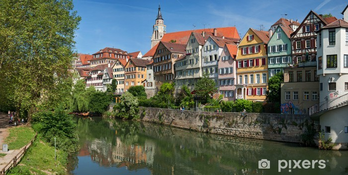 Sticker Pixerstick Paysage urbain de Tübingen - Europe