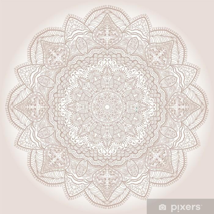 Naklejka Pixerstick Ozdobne koronki okrągły wzór, koło tle wielu detai - Tematy