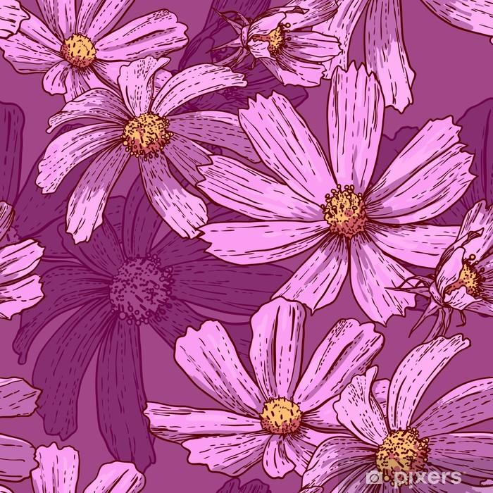 Plakat Powtarzalny rocznika tle kwiatów - Koncepcje biznesowe