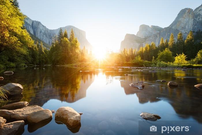 Papier peint vinyle Yosemite valley - Thèmes