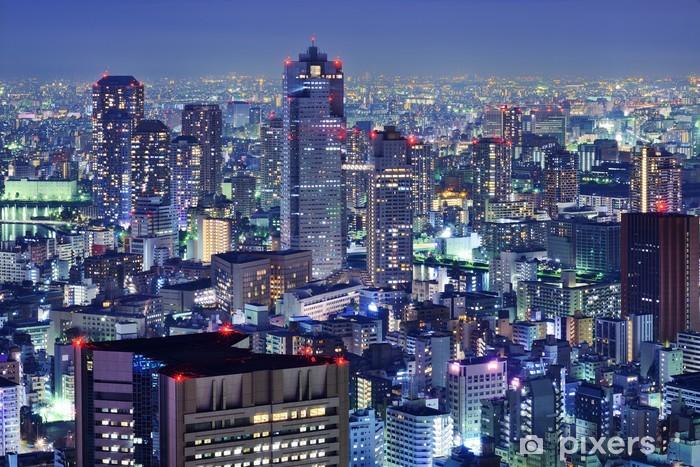 Naklejka Pixerstick Tsukiji, Tokio Skyline - Ameryka