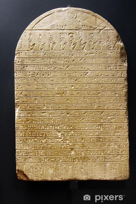 Nálepka Pixerstick Starověké egyptské Hieroglyphic klínového písma - Evropská města