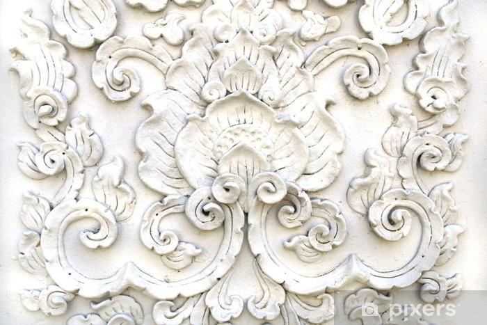 Naklejka Pixerstick Biały Bat sztuki Stiuk, tajski świątynia - Tematy
