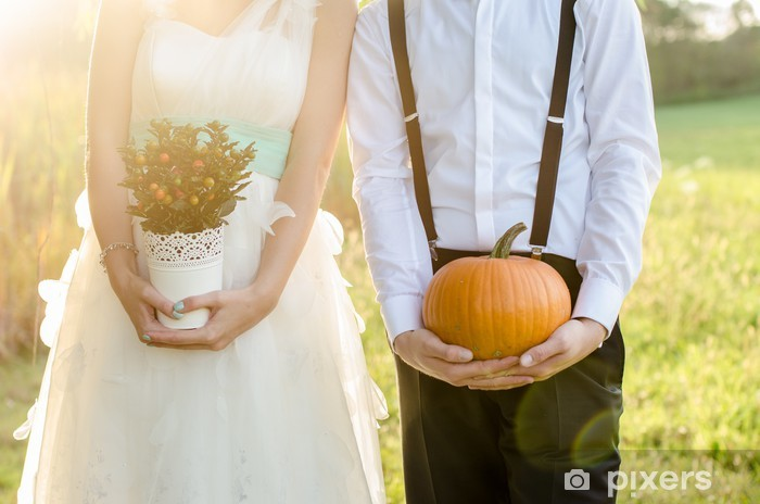 Fototapeta winylowa Ślub w stylu vintage - Świętowanie