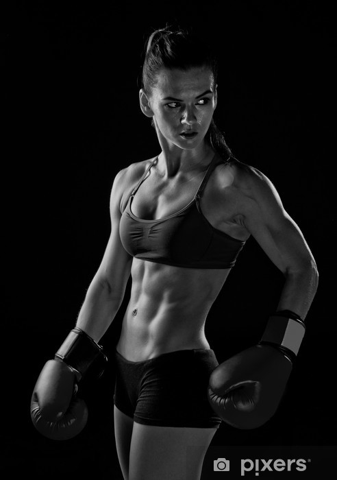 woman boxer Pixerstick Sticker - Themes