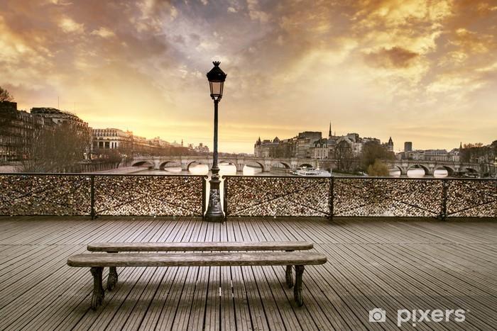 Papier peint vinyle Pont des arts, Paris - Destin