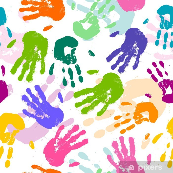 519e0e7fbb Carta da Parati in Vinile Vector seamless con stampe colorate a mano