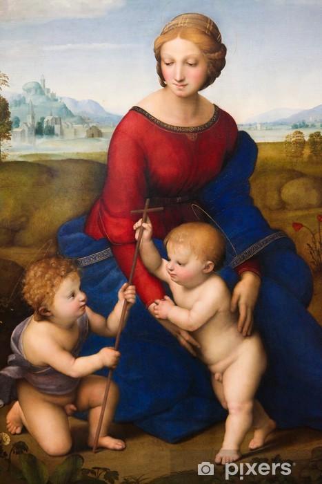 Sticker Pixerstick Madonna de la prairie par Raphael (1505) - Thèmes