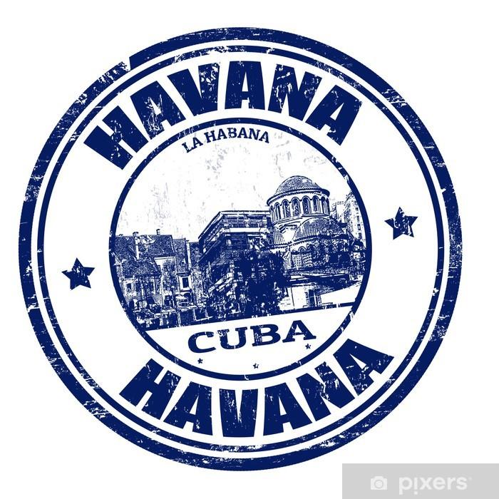 Fototapeta winylowa Havana pieczęć - Znaki i symbole