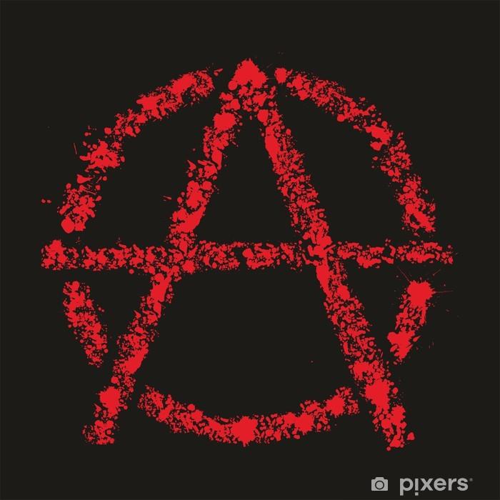 Nálepka Pixerstick Grunge anarchie symbol, vektorové ilustrace - Život