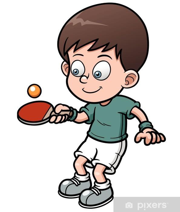 Картинки о настольном теннисе для детей, улыбающиеся