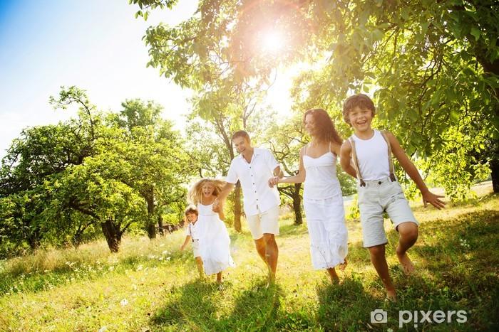 Naklejka Pixerstick Szczęśliwa rodzina - Wartości rodzinne