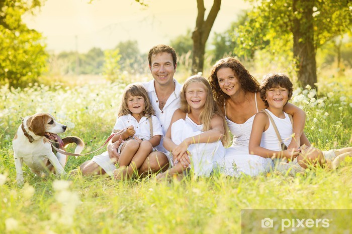 Pixerstick Dekor Lycklig familj - Familjeliv