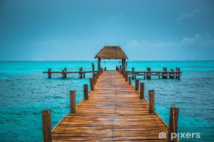 Caribbean pier Pixerstick Sticker - Themes