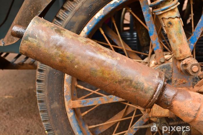 Naklejka Pixerstick Stary motocykl spalin - Transport drogowy