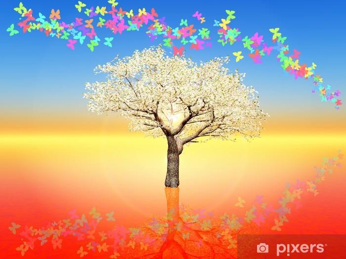 Nálepka Pixerstick Cherry blossom - Styly