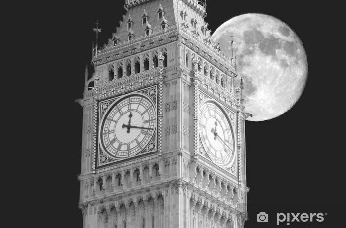 Sticker Pixerstick Big Ben lune - Thèmes