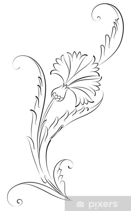 Karanfil çiçeği çini Deseni Duvar Resmi Pixers Haydi Dünyanızı