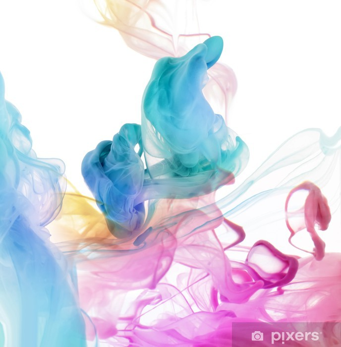 Acrylic colors in water. Abstract background. Vinyl Wall Mural -