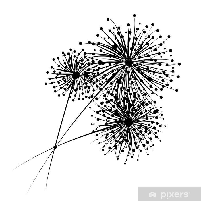 Papier peint vinyle Les fleurs de pissenlit pour votre conception - Fleurs
