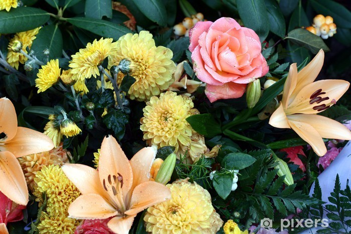 Sticker Pixerstick Plan rapproché de fleur morte - Fleurs