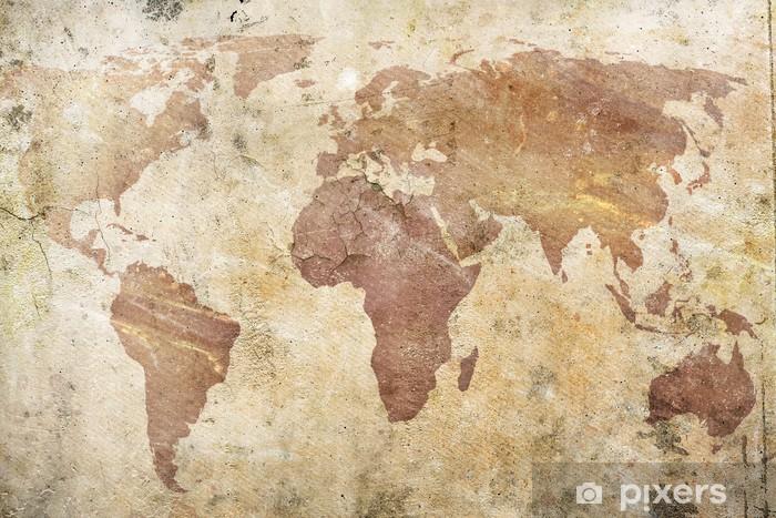 Fototapeta winylowa Vintage, mapa świata -