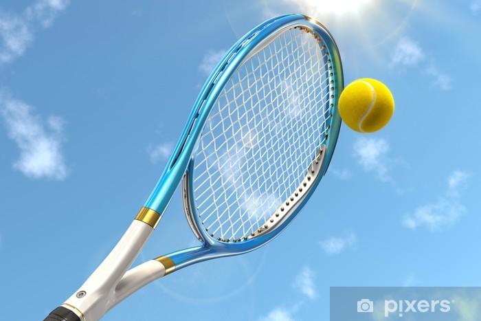 Nálepka Pixerstick Tenisová raketa s tenisovým míčem - Tenis