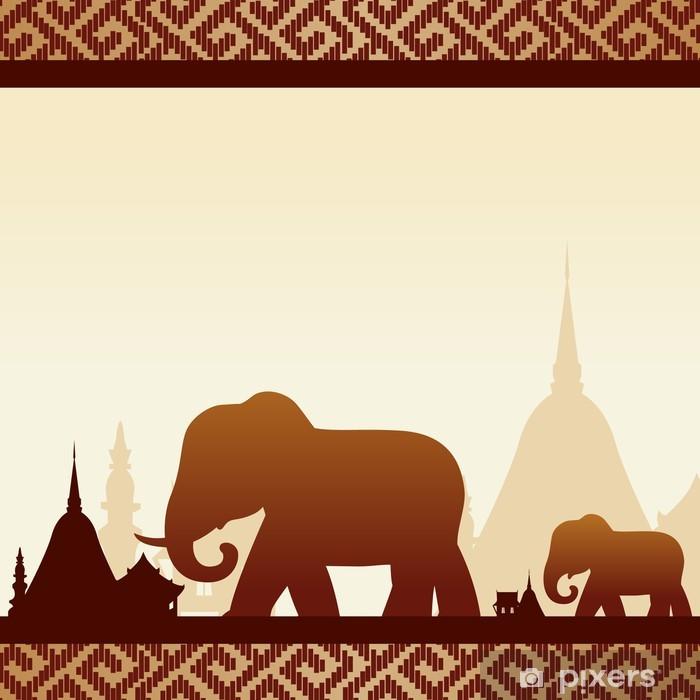 Nálepka Pixerstick Sloni s Thajskem - Asie