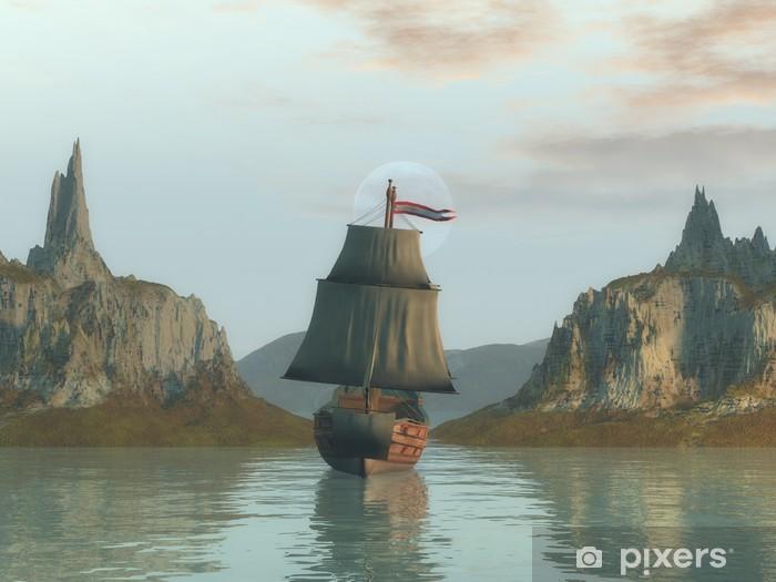 Fototapeta winylowa Starożytny statek - Transport wodny