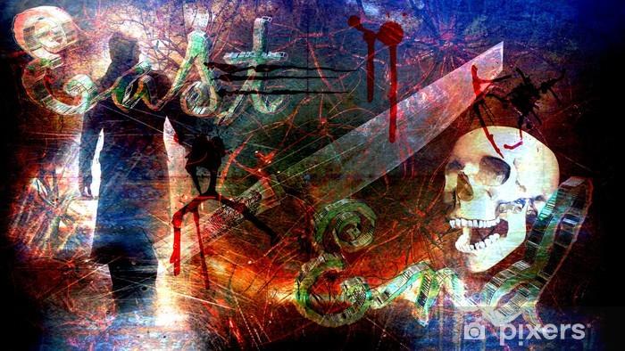 Sticker Pixerstick EAST END, LONDRES. Rugueux, grunge fond - Esotérisme