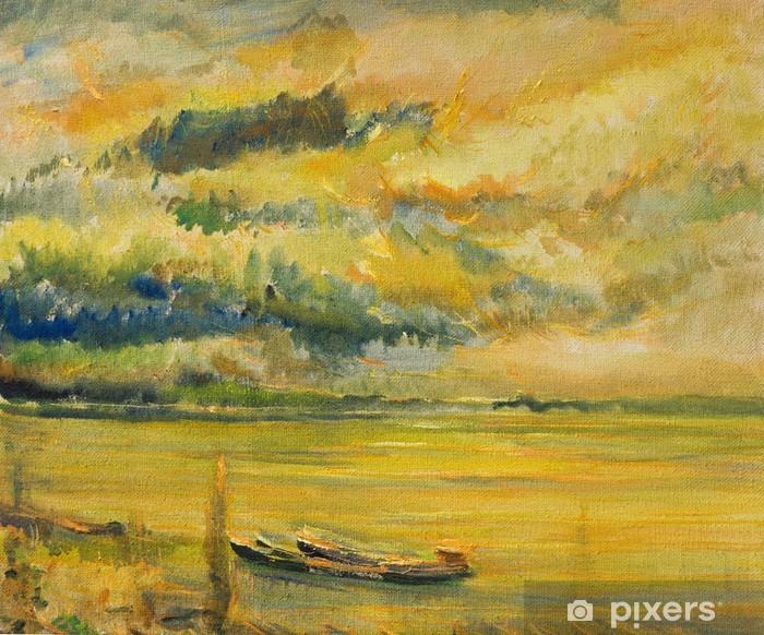 Plakat Panoramiczny Zachód Widok Dunaju - Sztuka i twórczość