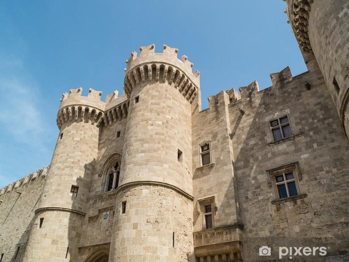 Naklejka Pixerstick Zamek starych Rodos w Grecji - Europa