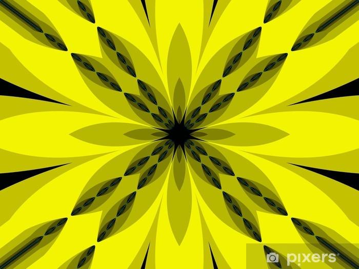 Naklejka Pixerstick Abstrakcja ornament w kolorach cytrynowych - Inne uczucia