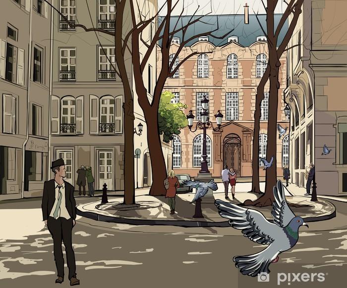 Carta da Parati Lavabile Furstemberg piazza a Parigi - Temi