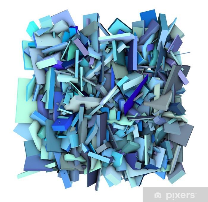 Fototapete 3d Blue Abstract Shape Fragmentierten Hintergrund