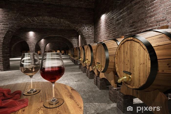 Naklejka Pixerstick Starożytny winiarnia - Wino