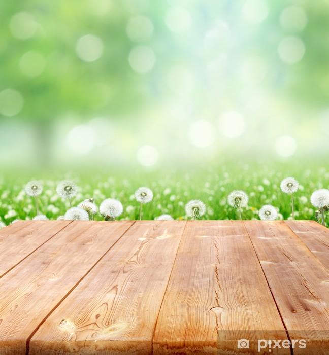 Fototapeta winylowa Wiosną tła z desek - Pory roku