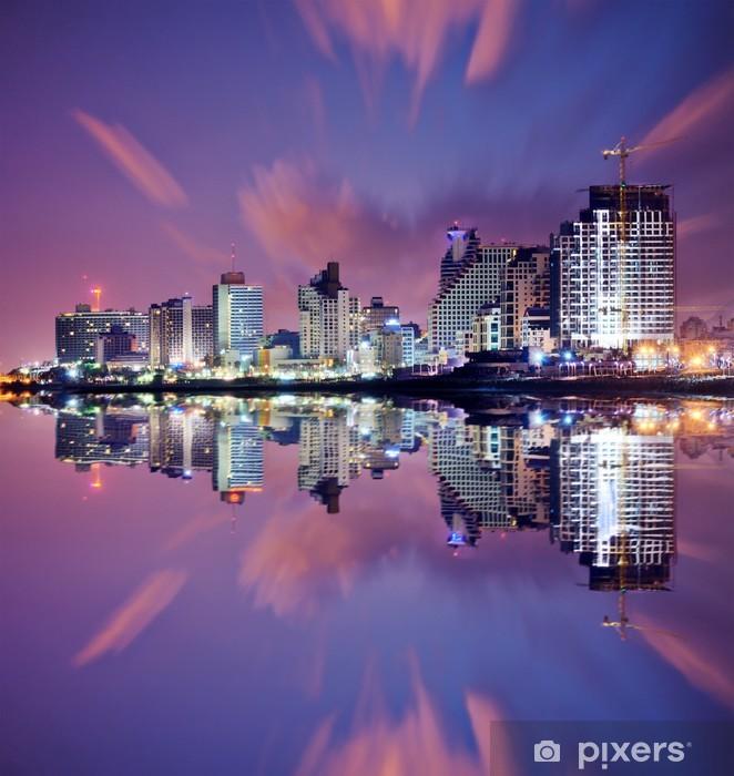 Pixerstick Dekor Tel Aviv Cityscape - Mellanöstern
