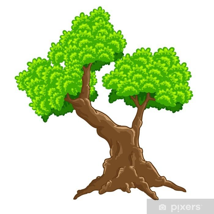 Tree vertor Pixerstick Sticker - Wonders of Nature