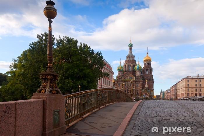 Papier peint vinyle Eglise du Sauveur sur le Sang de Saint-Pétersbourg - Asie