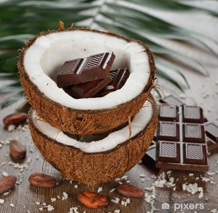 Poster Noix de coco et chocolat - Desserts et friandises