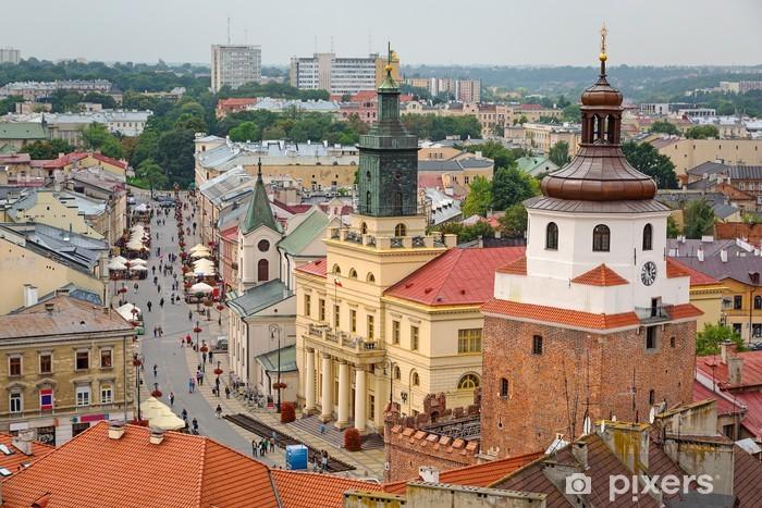 Sticker Pixerstick L'architecture de la vieille ville de Lublin, en Pologne - Thèmes